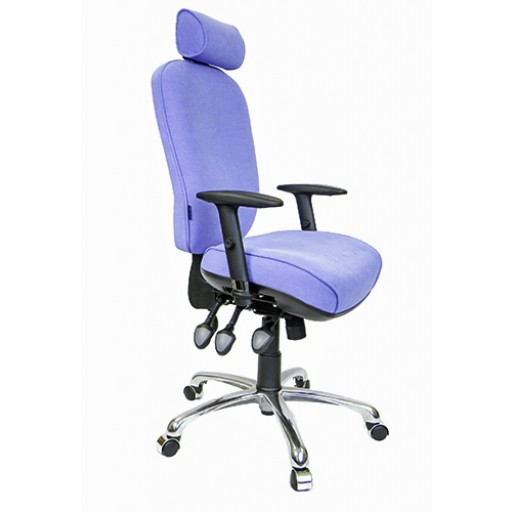 Vertebral V704 with Standard Base & optional 'Durham' Arms + Multi Adjustable Headrest