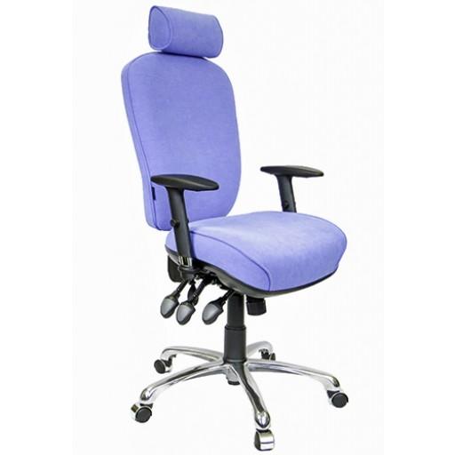 With Optional Teardrop Headrest, Durham Height/Depth Adjustable Arms & Lumbar Support.