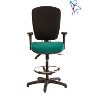 V704D Coil Sprung Orthopaedic Draughtsman Chair for 8 or 24 Hour Use
