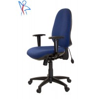 PS06  Heavy Duty Office Posture Chair with Inflatable Lumbar Support + Seat Depth Adjustment + Height Adjustable Arms + Deep Fill Seat Cushions