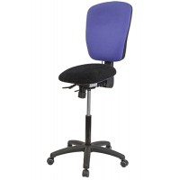 Posture Perch with High Back & lock on load castors