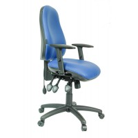 Contour V with Durham height and depth adjustable arms, inflatable lumbar, seat depth adjustment